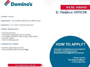 Dominos Pizza Pakistan Jobs 2021