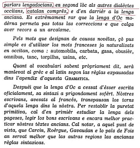dialèctes occitans, catalan comprés