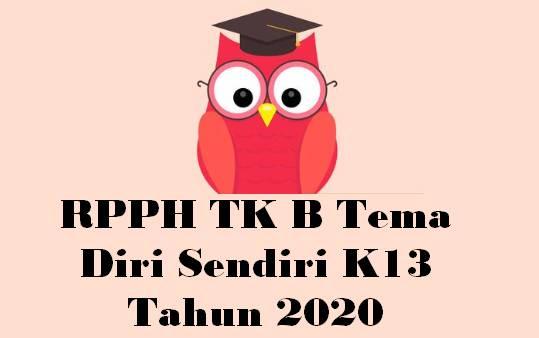 RPPH TK B Tema Diri Sendiri K13 Tahun 2020