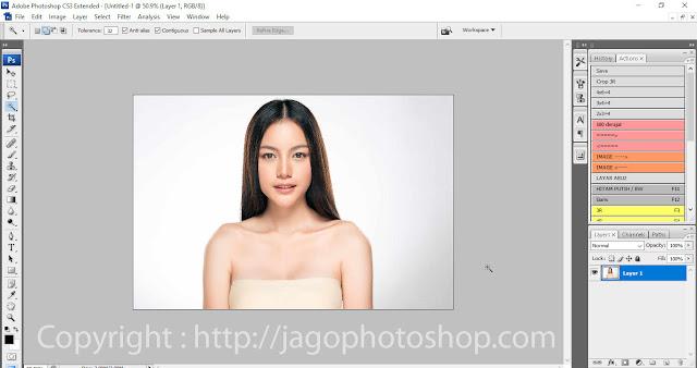 cara membuang background di photoshop