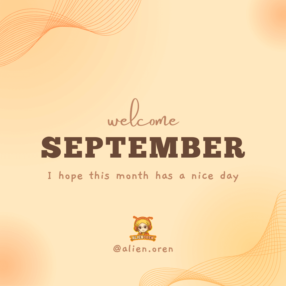 Welcome September & Terima Kasih Jurnal Shikin Razali!