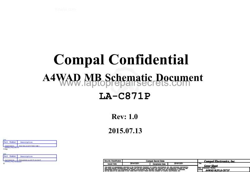 LA-C871P Rev 1.0 Schematic Acer Aspire E5-491G Compal A4WAD