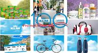 Logo KLM 100 anni 100 premi: vinci gratis L'Oreal, Noberasco, gift card, bici, boracce, borse e molto altro
