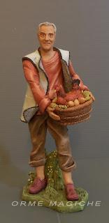 statuetta presepe personalizzata nonno gallina uova ritratto ricordo orme magiche