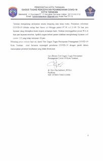 Press Release COVID-19 Tarakan 20 Juli 2020 - Tarakan Info
