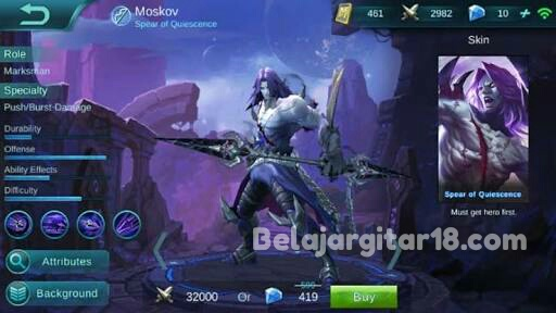 Hero Moskov Mobile legends