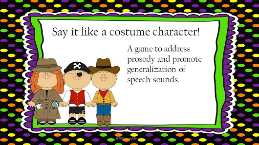 Costume Character Prosody Game