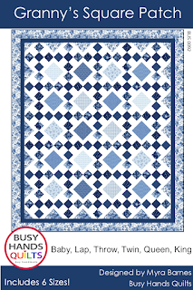 Grannys Square Patch Quilt Pattern by Myra Barnes of Busy Hands Quilts