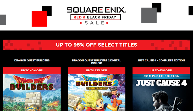 SQUARE ENIX ANNOUNCES 2019 RED & BLACK FRIDAY SALE