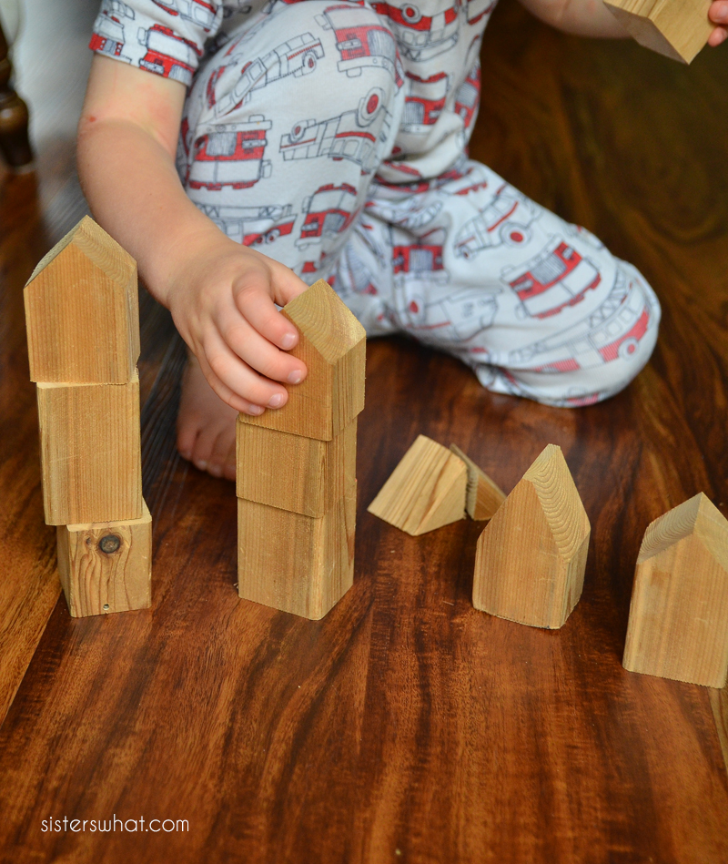 diy wooden house blocks