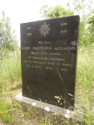 Gravestone of Robert Christopher Alexander Christchurch graveyard, Magorney (from Historic Graves site)