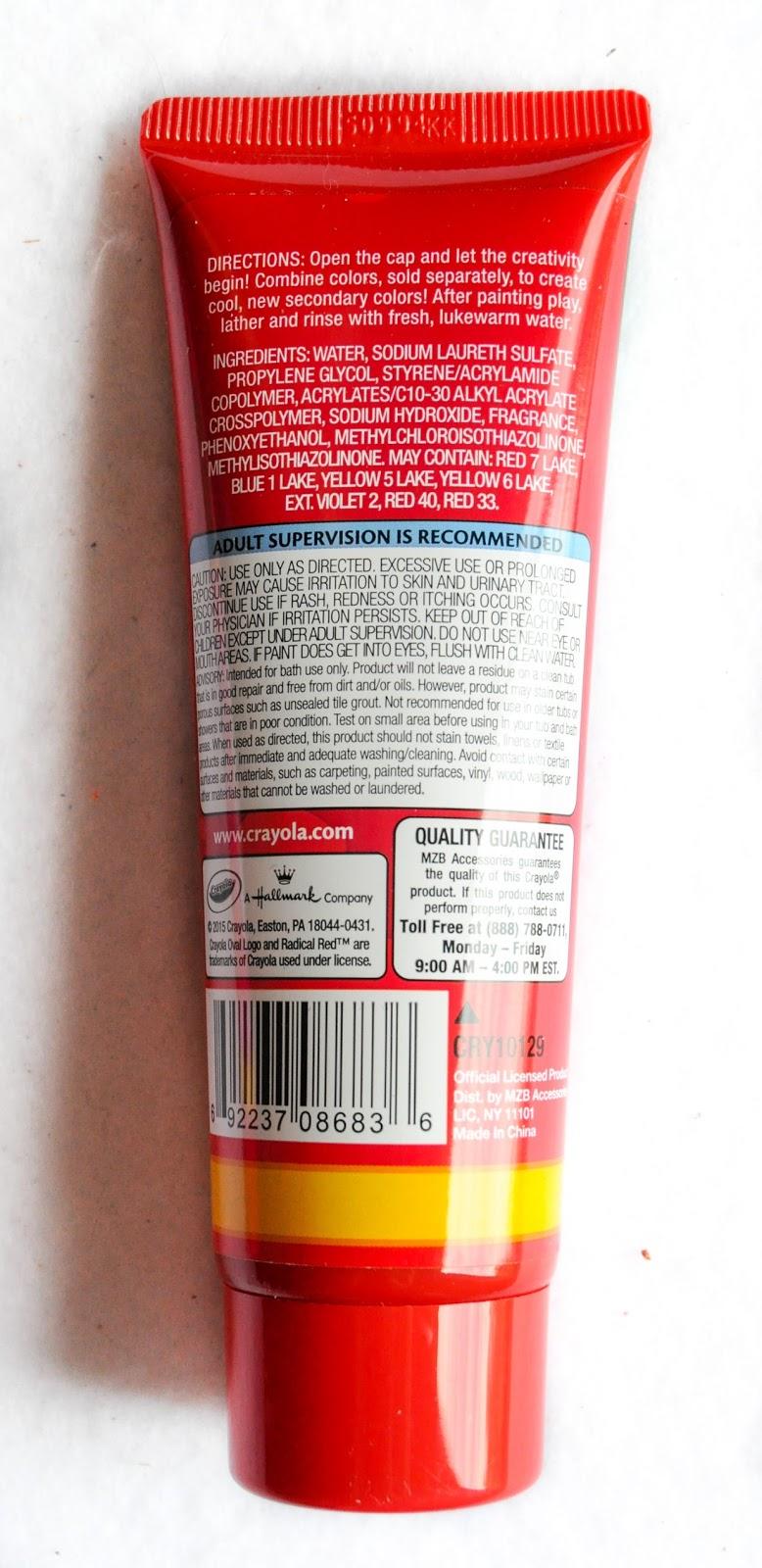 Crayola Bathtub Fingerpaint Soap And Crayola Body Wash