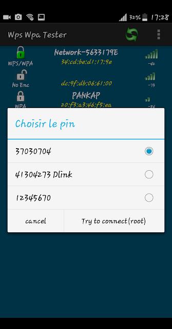 Mot passe wifi cracké avec wps/wpa tester