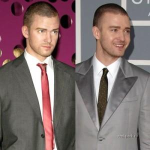 Escultura de cera de Justin Timberlake