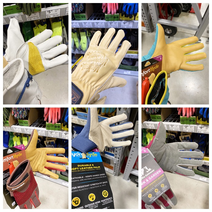 work gloves at Lowes