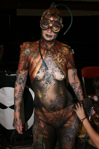 The Noble Hare Steampunk Body Art