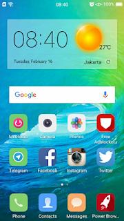 Tema iPhone 9 untuk Oppo F1