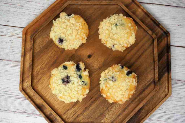 Blueberry Muffins With Cream Cheese Filling