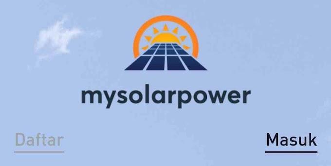 Aplikasi My SolarPower Penghasil Uang Gratis, Bonus 100K Untuk Investasi, Apakah Aman Dan Membayar? Klik Disini Selengkapnya...