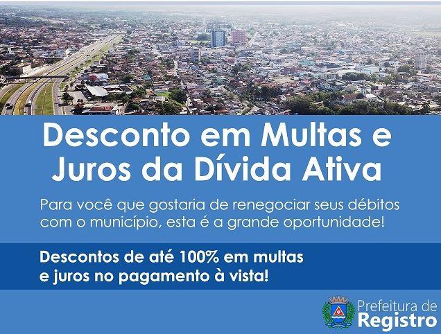Prefeitura de Registro-SP promove programa de negociação de dívidas