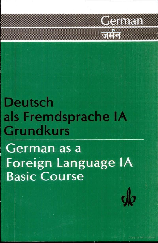 download deutsch als fremdsprache 1a grundkurs book great german. Black Bedroom Furniture Sets. Home Design Ideas