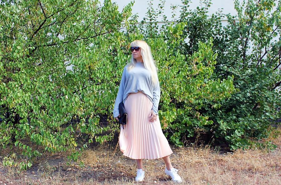 KateKasin.com - Pleated Swing A-Line Skirt. Плиссированная юбка / обзор, отзывы