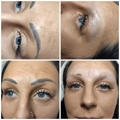 Before and after images of one of The Silver Blade's clients.