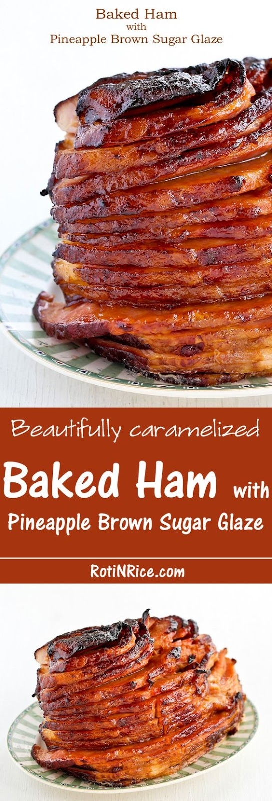 BAKED HAM WITH PINEAPPLE BROWN SUGAR GLAZE