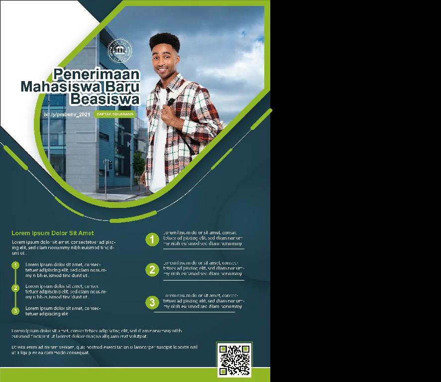 Download Brosur Penerimaan Mahasiswa Baru Hijau Keren