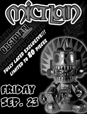 Fully Laced Exclusive Obsidian Edition Mictlan Vinyl Figure by Jesse Hernandez