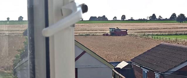 The farmer cutting his field