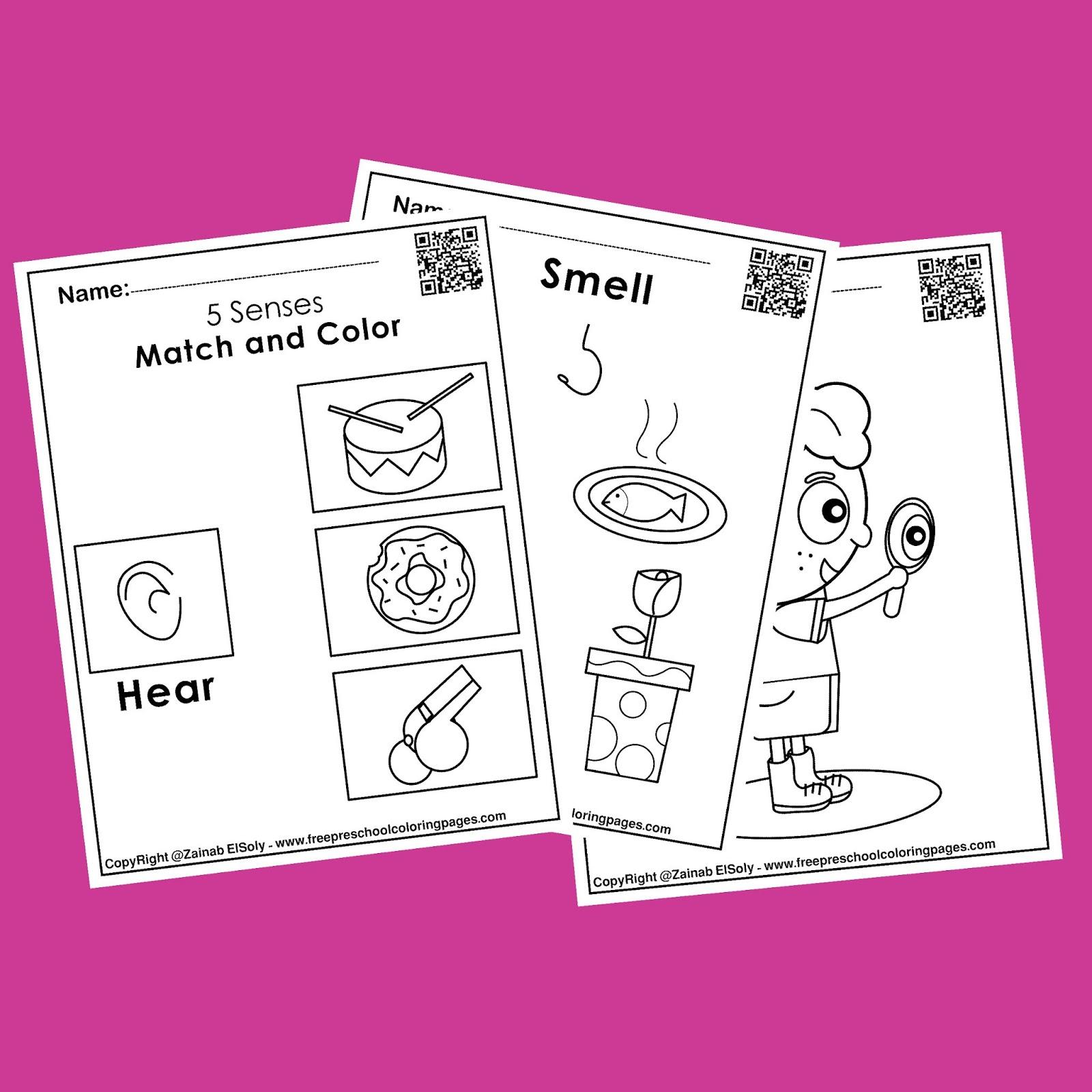 5 Senses Free Worksheets Activities For Kids
