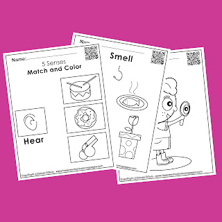5 senses activities for kids , free printable preschool coloring pages,see,sight,eyes,hear,sound,ears,taste,mouth,touch,hand,feel,nose,smell