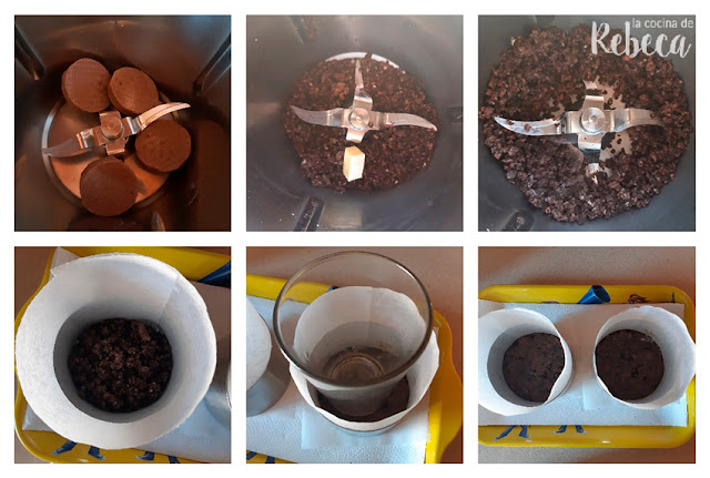 Receta de cheesecake de chocolate fácil: preparación de la base