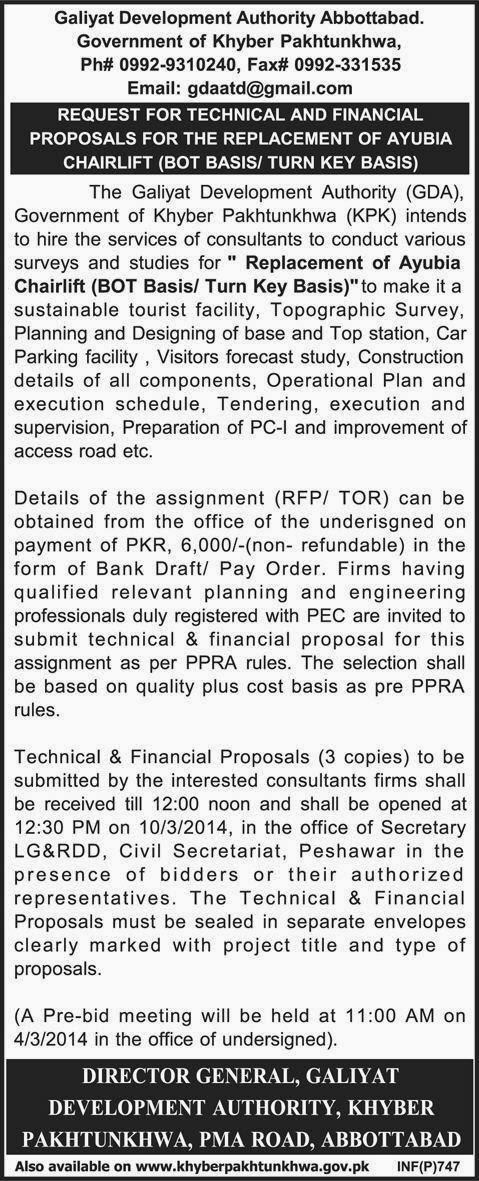 Online PapersPk: Galiyat Development Authority Abbottabad Kpk Tender