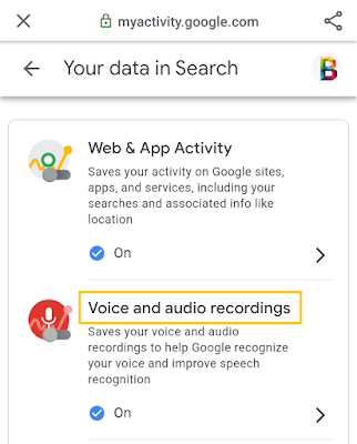 stop google recording your voice and audio