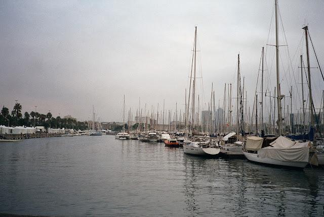 Barcelona Dock Boats