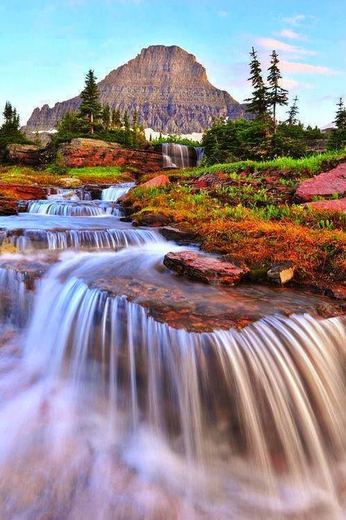 natural places around glacier national park waterfall amazing nature place waterfalls pretty falls montana beauty scenic canada usa seen wonderful