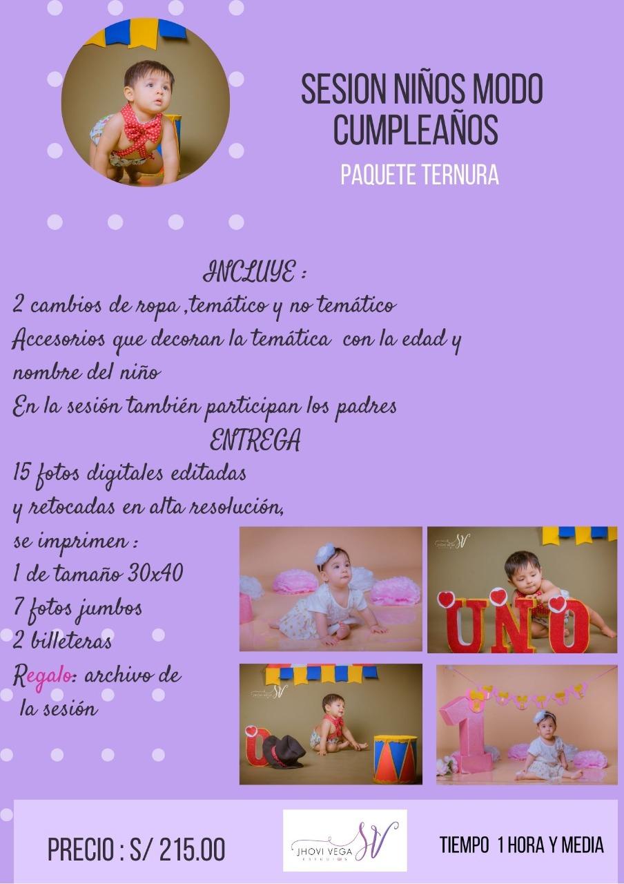 Fotografía para niños en Trujillo - Perú, Sesiones, filmaciones y retratos