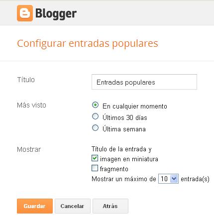 Entradas Populares para blogger nuevos estilos