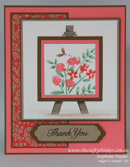 Stampin Up Australia, #thecraftythinker, Painters Palette, Stephanie Fischer Independent Stampin Up Distributor
