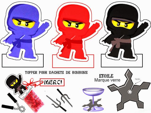 Para Golosinas para Imprimir Gratis de Ninjago.