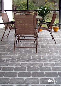 Desha Faux Brick Patio
