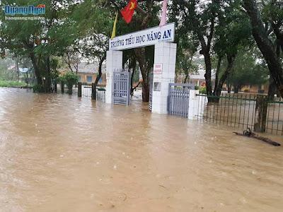 Tin lũ khẩn cấp trên sông Vệ và sông Trà Câu