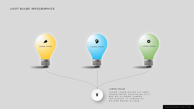 Shining Light Bulb Infographics PowerPoint Slide Type B