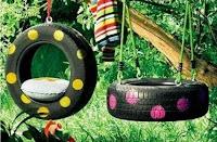 Juegos para niños con neumáticos reciclados