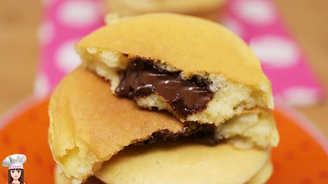 pancakes cuore al cioccolato