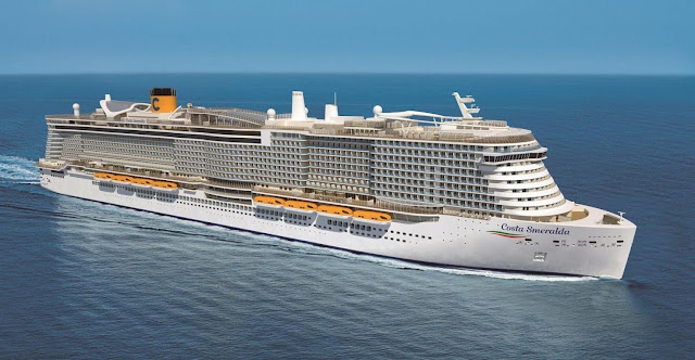 Costa Smeralda named in Savona Italy by Penelope Cruz - Costa Cruises