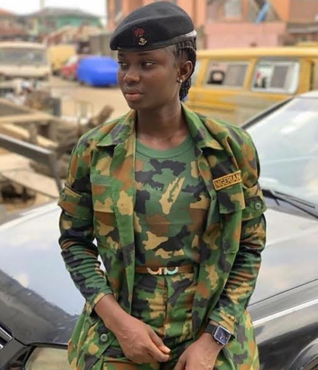 Don't Be Afraid to Approach a Female Soldier You Love – Nigerian Female Army Officer Advises Men (Photos)