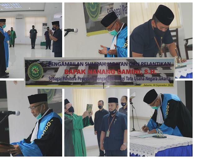 Pelantikan Panitera Pengganti PT.TUN Jakarta an. Nanang Damini, S.H., M.H